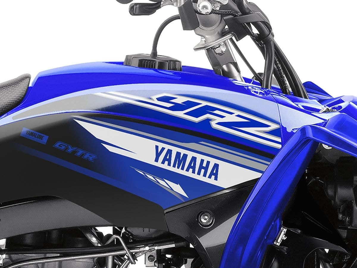 2019 Yamaha YFZ450R EU Racing Blue Detail 004 Tablet